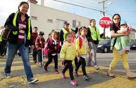 Kids at Walk to School Day, 2013