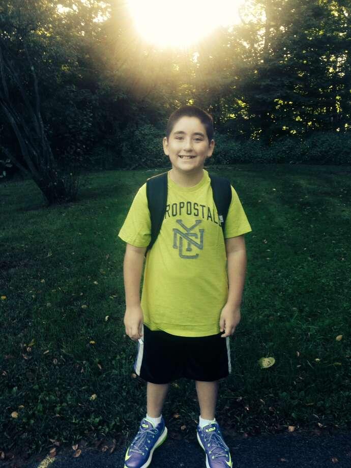 Justin Benoit, grade 6 at Acadia Middle School. (Christina Conroy)