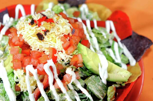 Taco Salad on Thursday, Aug. 21, 2014, at Mexican Radio in Schenectady, N.Y. (Cindy Schultz / Times Union) Photo: Cindy Schultz / 00028252A