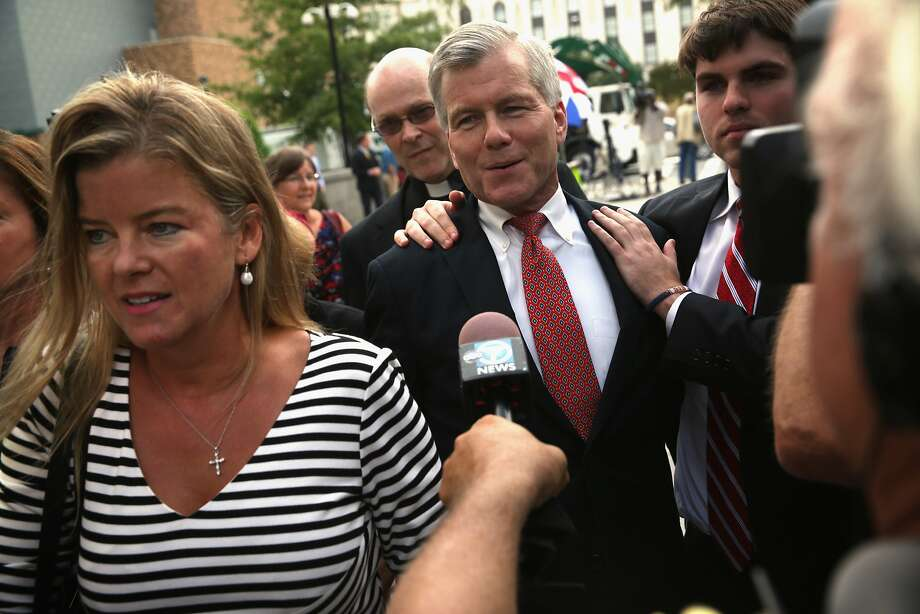 Former Virginia Gov. Bob McDonnell and members of his family return to court to hear the verdict. Photo: Alex Wong, Getty Images