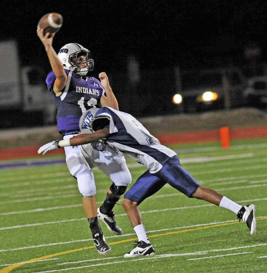 The Port Neches-Groves Indians hosted the West Orange-Stark Mustangs Friday night at the Reservation. The score at the half is Port Neches- Groves 23 and West Orange-Stark 14.  Dave Ryan/The Enterprise Photo: Dave Ryan