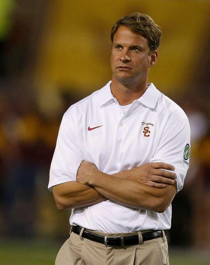 Southern California head coach Lane Kiffin reacts after losing to Arizona State 62-41 during an NCAA college football game on Saturday, Sept. 28 2013, in Tempe, Ariz. (AP Photo/Rick Scuteri) Photo: Rick Scuteri, Associated Press
