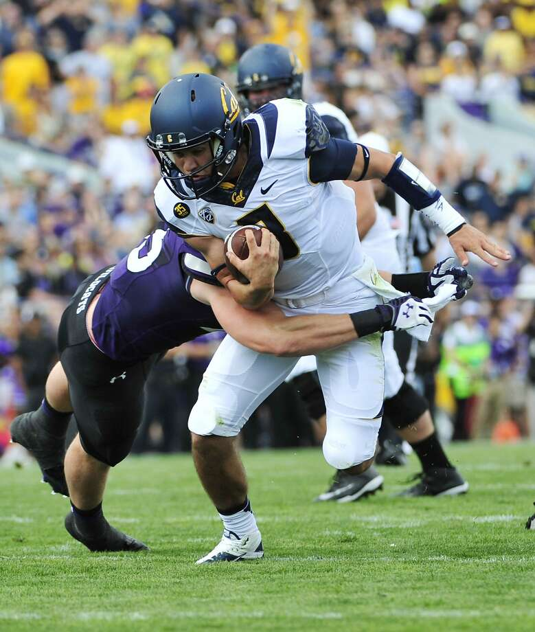 Freshman quarterback Luke Rubenzer was the Bears' leading rusher in their win over Northwestern, carrying 11 times for 48 yards. Photo: David Banks, Getty Images
