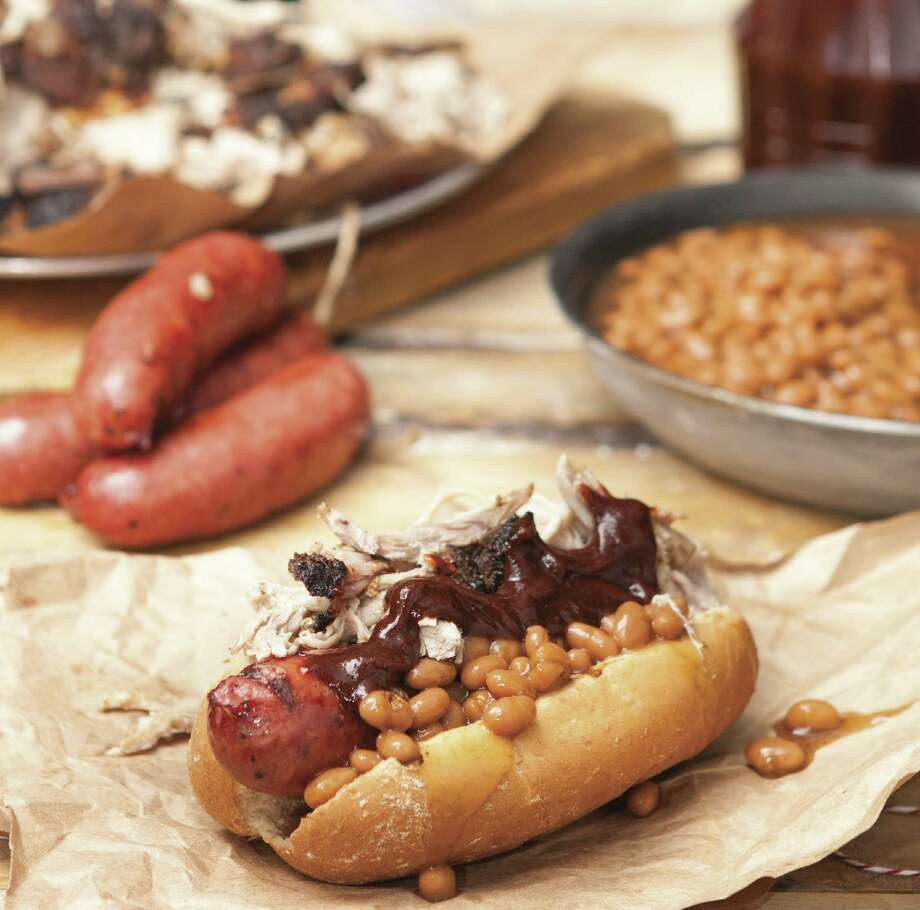 The Texas BBQ Dog (right) goes way beyond the standard bun, 'dog and mustard.