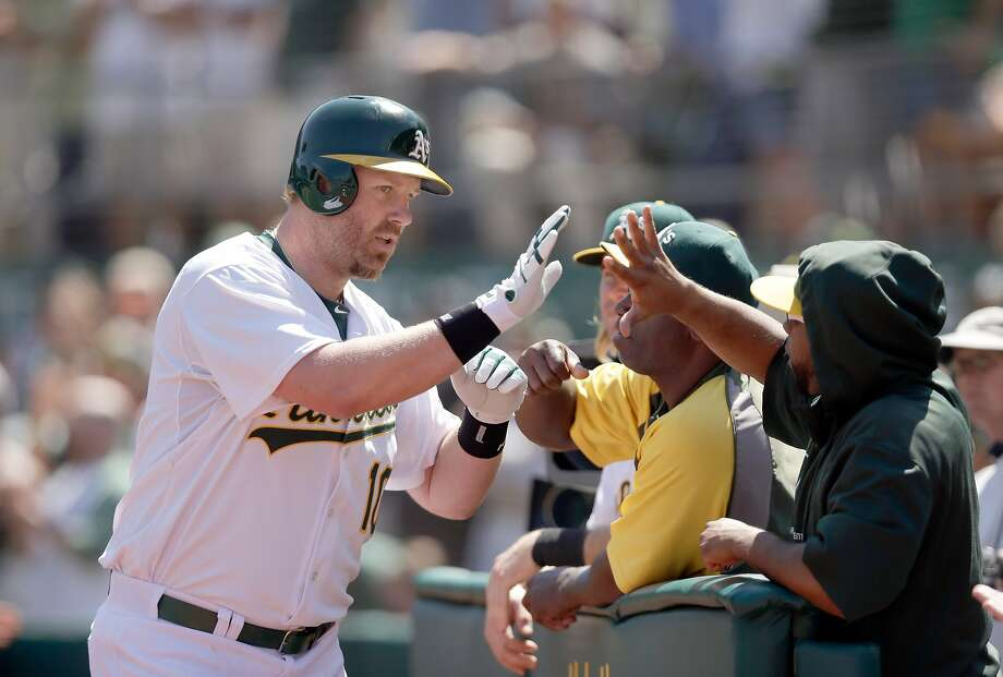 Adam Dunn, who has given the A's offense a jolt, needs to be in the lineup against Houston's and Chicago's left-handers. Photo: Ezra Shaw, Getty Images