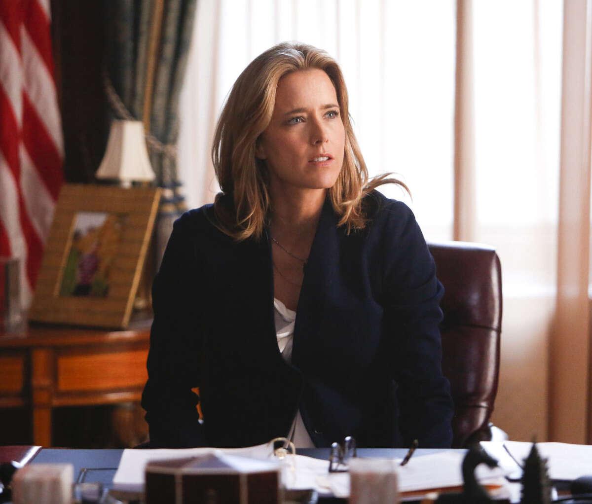 "Téa Leoni portrays Elizabeth McCord, the shrewd, determined, newly appointed secretary of state in ""Madam Secretary."""