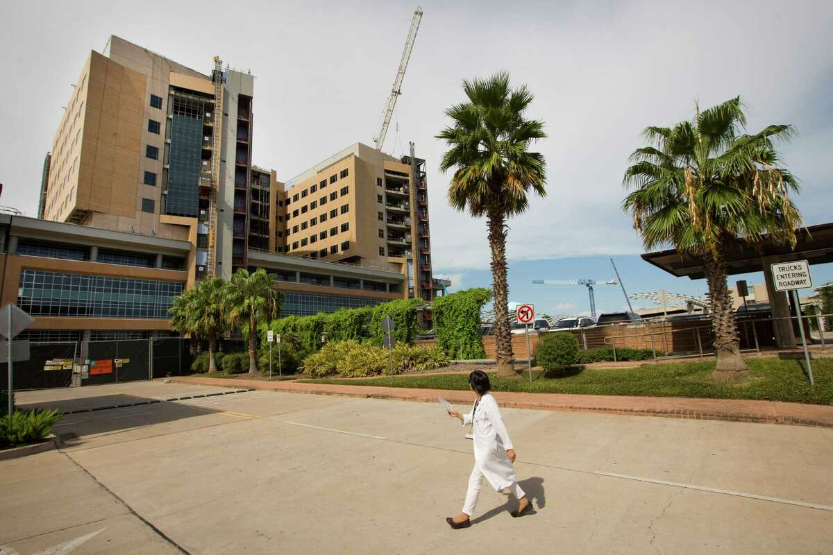 The new Jennie Sealy Hospital is going up at the University of Texas Medical Branch in Galveston.
