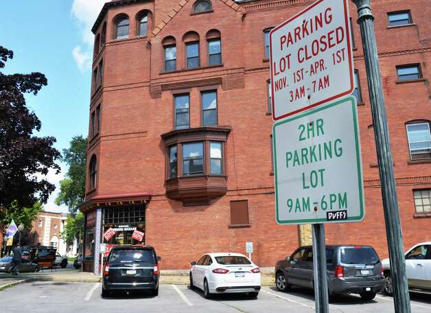 The Collamer parking lot on Broadway that the city recently sold for $775,000, Wednesday Sept. 3, 2014, in Saratoga Springs, NY.  (John Carl D'Annibale / Times Union) Photo: John Carl D'Annibale / 00028454A