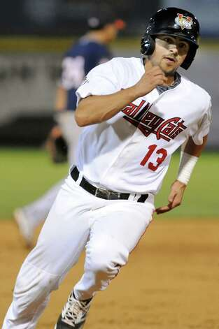 ValleyCats' Alex Hernandez rounds third during their baseball game against the Tigers on Thursday, Sept. 4, 2014, at Bruno Stadium in Troy, N.Y. (Cindy Schultz / Times Union) Photo: Cindy Schultz / 00028411A