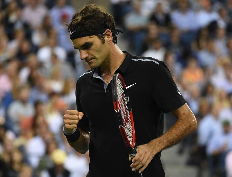 Five of Roger Federer's record 17 major singles titles were at the U.S. Open, but he lost in the quarterfinals in 2012 and the fourth round in 2013. Thursday was the ninth time he's won a match after losing the first two sets. Photo: Don Emmert, AFP/Getty Images