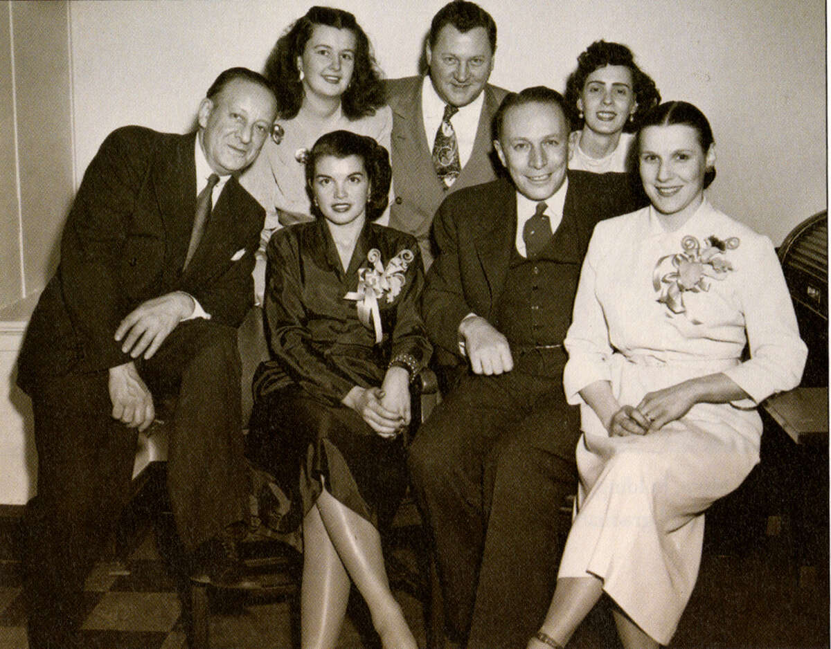Albany Mayor Erastus Corning 2nd and Dorthea Polly Noonan (first row, second and first from right) with members of the Noonan family in a photo circa 1937. Noonan is the grandmother of U.S. Sen. Kirsten Gillibrand. (Photo from the Albany Institute of History & Art archive)