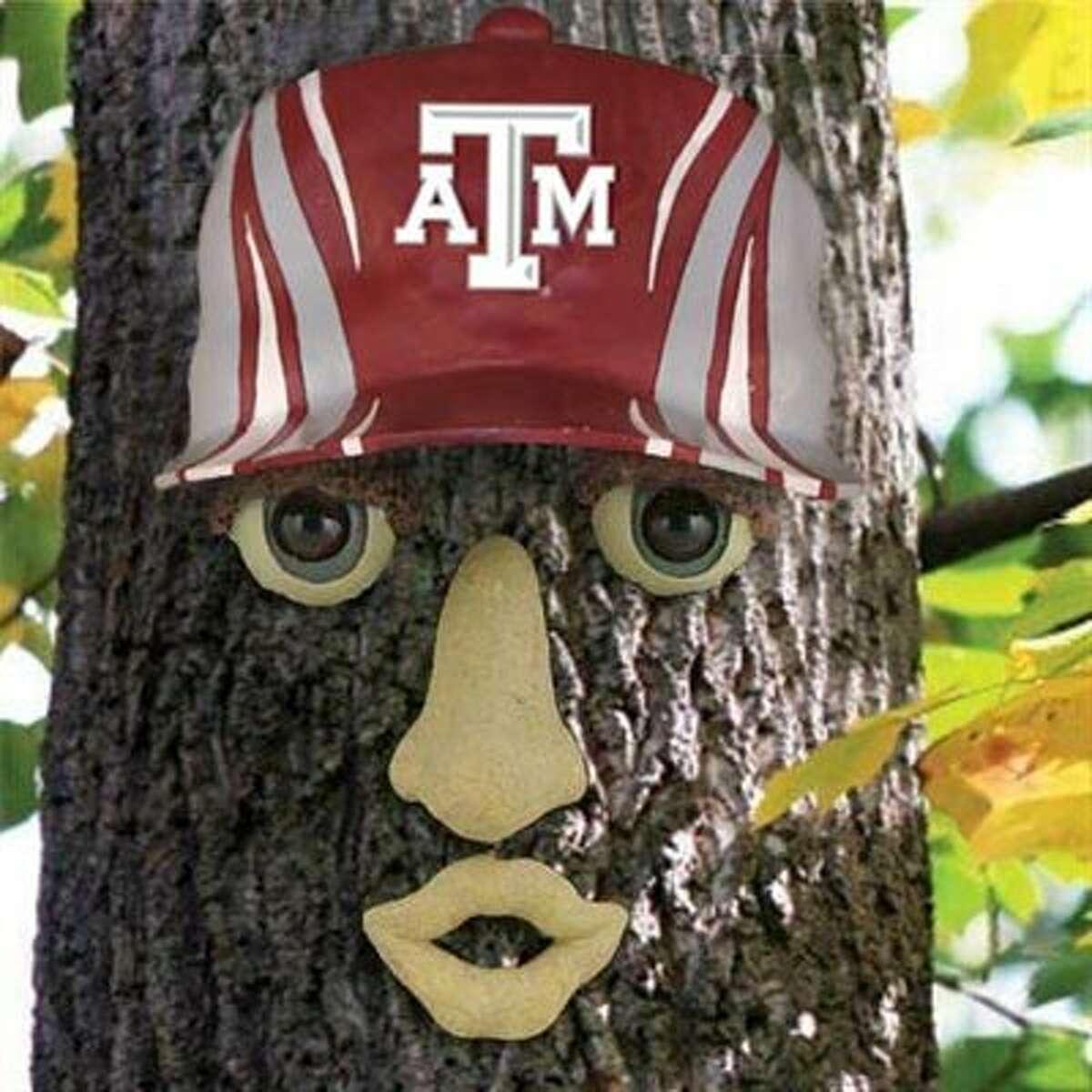 A Texas A&M Aggies resin tree face ornament.