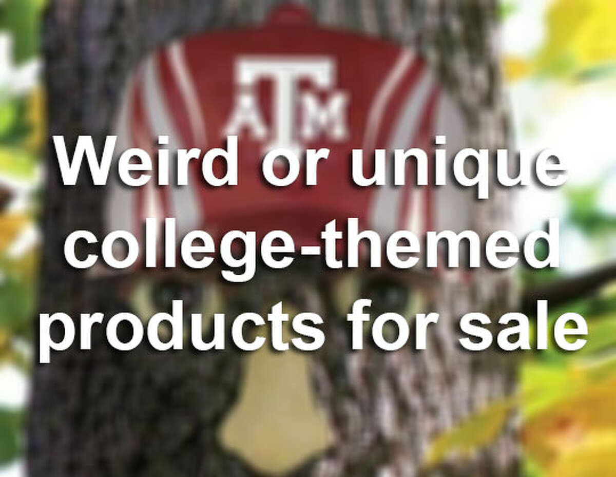 We see university logos everywhere, whether on cars, coffee mugs or shirts. But these collegiate merchandise items are, well, somewhat strange. Clickthroughthe slideshow to see some of the unique things you can purhcase with your college's logo on it.
