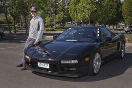 Photos of Tom King and his 1992 Acura NSX Coupe 'Silkrip NSX'. Photographed on June 6, 2014 at Bollinger Canyon Road Memorial Park in San Ramon, CA.