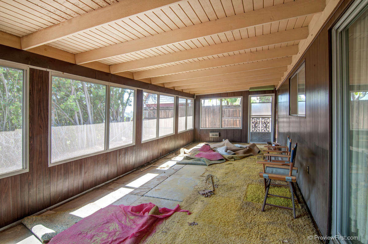 Renovation Realty tore down this screened-in porch on Rowena Street in San Diego.