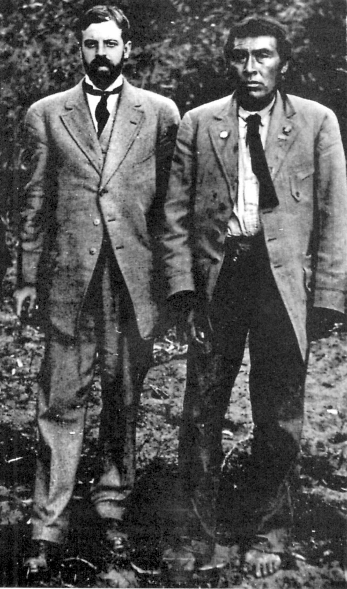 Alfred Kroeber (left) and Ishi in 1911. Ishi, considered the last aboriginal California Indian, in Tehama County, in 1914. Ishi was found near Oroville in 1911 and taken in by anthropologist Alfred Kroeber.