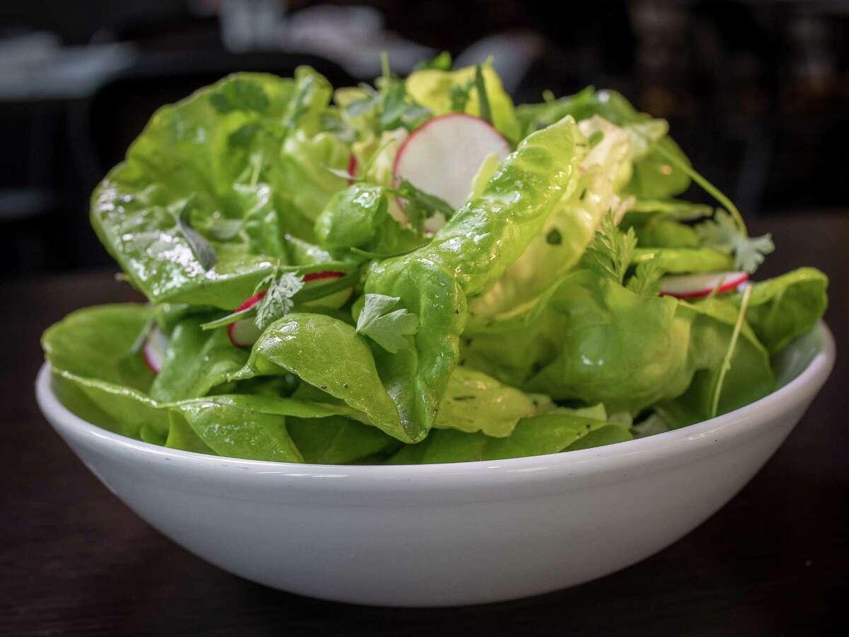 The butter lettuce salad at Monsieur Benjamin looks like a flower.