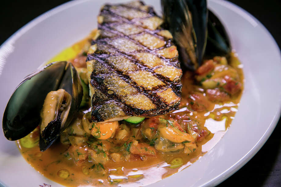 Sea bass at Monsieur Benjamin. Photo: John Storey / Special To The Chronicle / ONLINE_YES