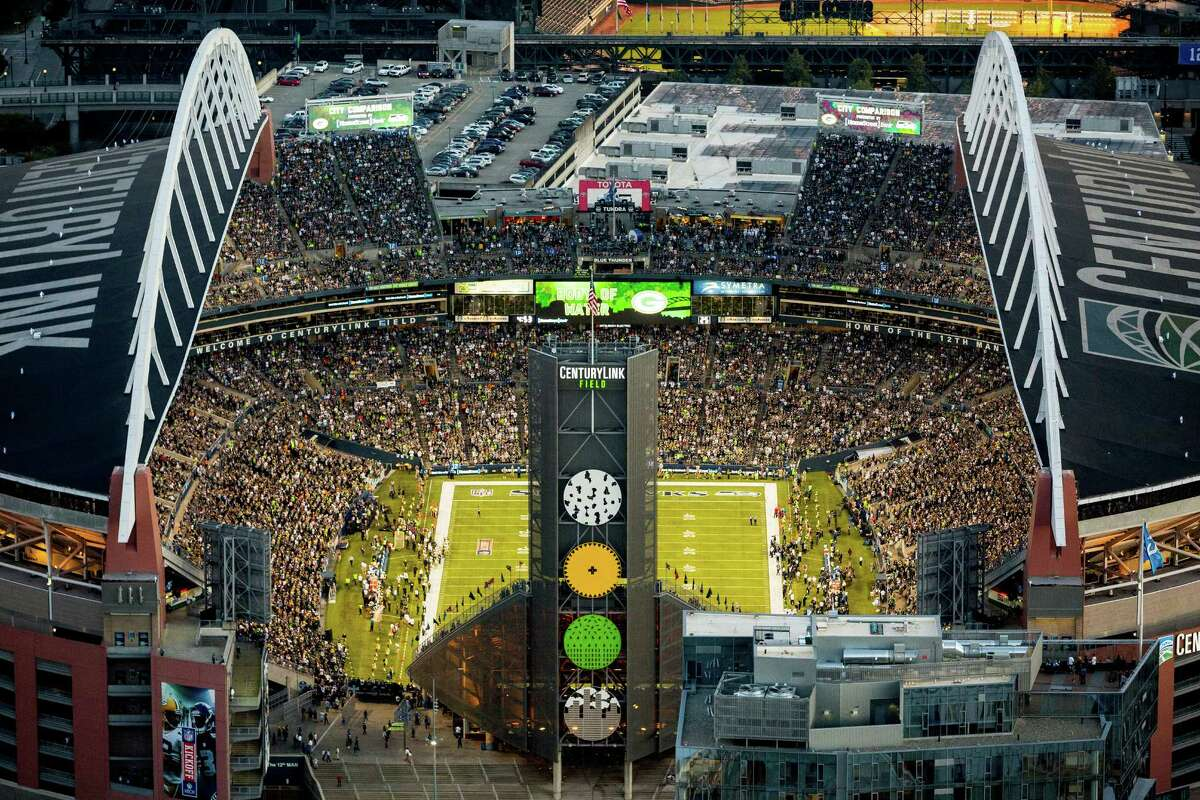 A view of CenturyLink Field during the game.