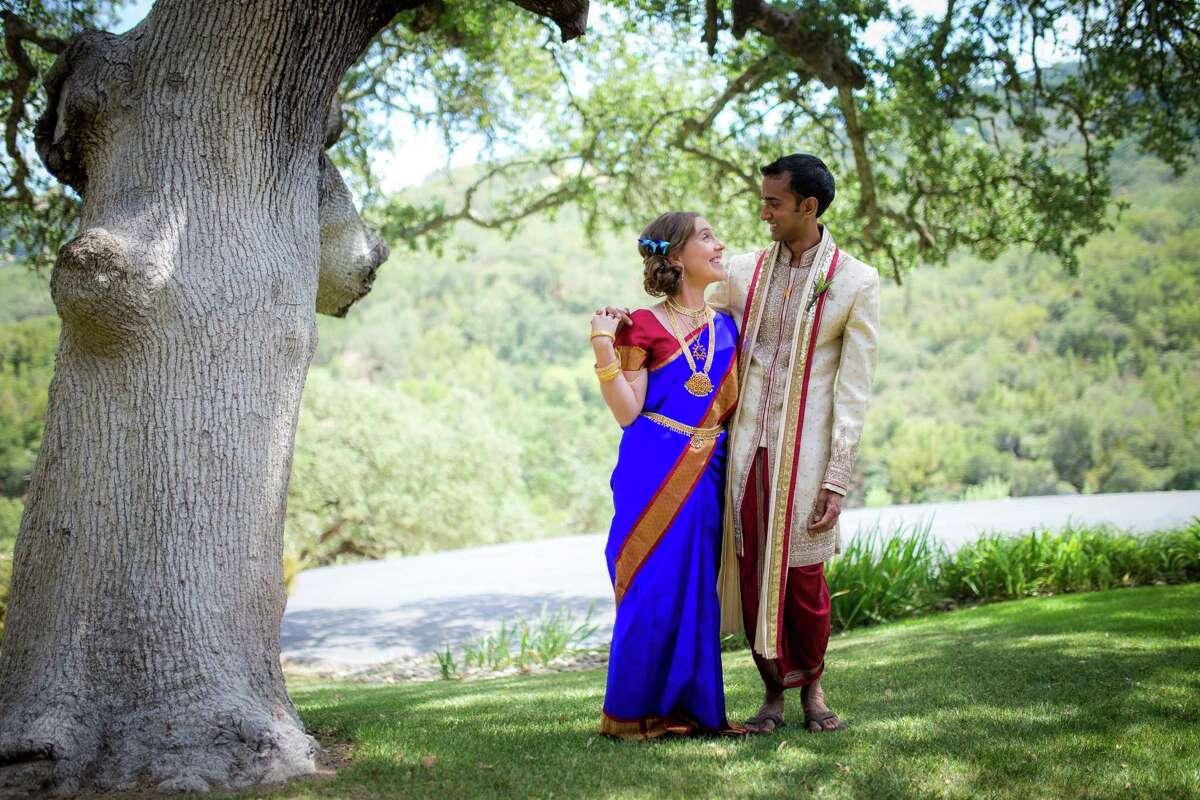 Ruth and Vijay before the Hindu ceremony.