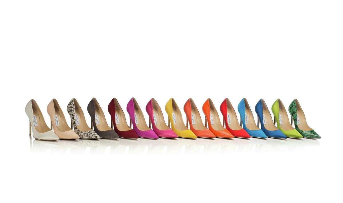 Jimmy Choo's Anouk pump, available in a range of colors and finishes at its S.F. store.