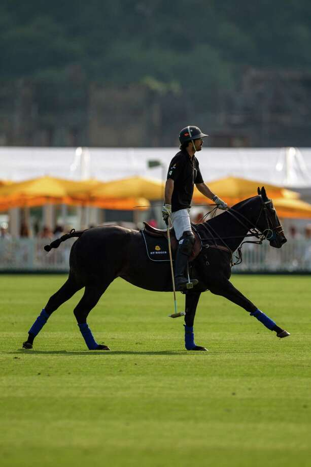 Polo pro Ignacio 'Nacho' Figueras at the the St. Regis international Cup hosted this year at Cowdray Park Polo Club, Midhurst, West Sussex, UK, on May 17. Photo: Courtesy Of St. Regis, Photographer / ONLINE_YES