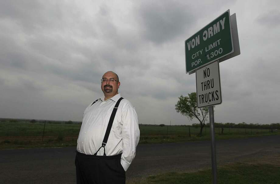 Von Ormy Mayor Art Martinez de Vara oversees the incorporated small town of about 1,300 south of San Antonio, which is poised to set the benchmark for Texas by eliminating property taxes. Photo: Kin Man Hui / San Antonio Express-News / ©2014 San Antonio Express-News
