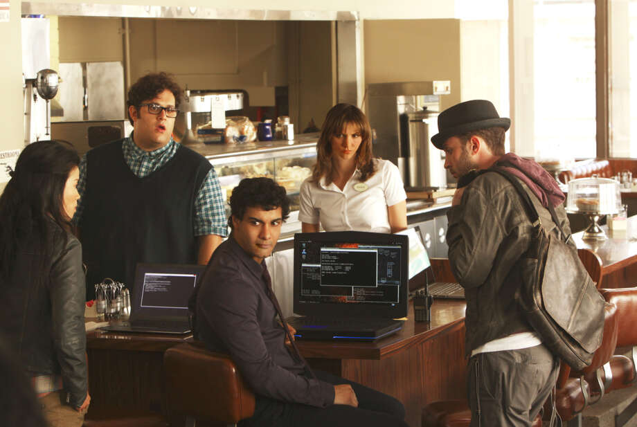 "Jadyn Wong (left), Ari Stidham, Elyes Gabel, Katharine McPhee and Eddie Kaye Thomas in ""Scorpion,"" about a group of expert super nerds who help Homeland Security save the day. Photo: Monty Brinton, Handout / CBS / ONLINE_CHECK"