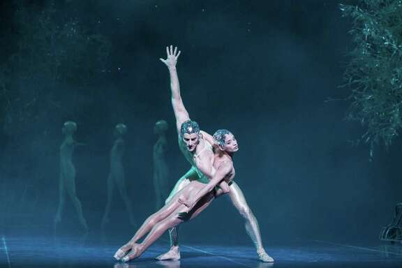 "Karina Gonzalez and Aaron Robison are a stunning pair in Houston Ballet's company premiere of John Neumeier's ""A Midsummer Night's Dream."""