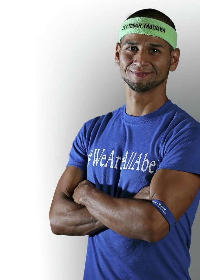 Portrait of American Ninja Warrior finalist Abel Gonzalez, 30 from Edinburg, Thursday Sept. 4, 2014. Photo: Edward A. Ornelas, San Antonio Express-News / © 2014 San Antonio Express-News