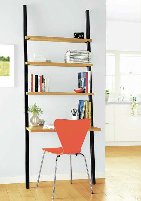 Room & Board's Gallery Leaning Desk ($499) draws eyes to the ceiling and makes a room appear taller. Photo: Room & Board / THE WASHINGTON POST