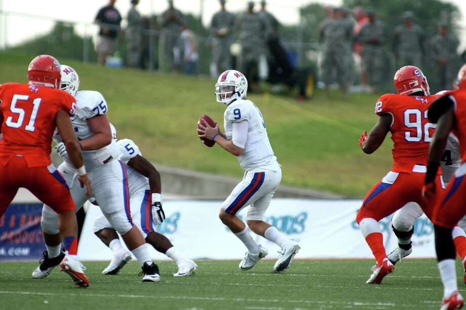Sophomore Jonathan Fleming will start at quarterback for Houston Baptist on Saturday following a summer in which he had a frightening experience when he was shot twice during a carjacking. Photo: Erik Williams / ONLINE_YES