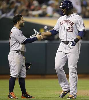 September 5: Astros 4, Athletics 3  Chris Carter does it again, belting a go-ahead two-run homer to lift the Astros to a fifth straight win.  Record: 62-79. Photo: Ben Margot, Associated Press