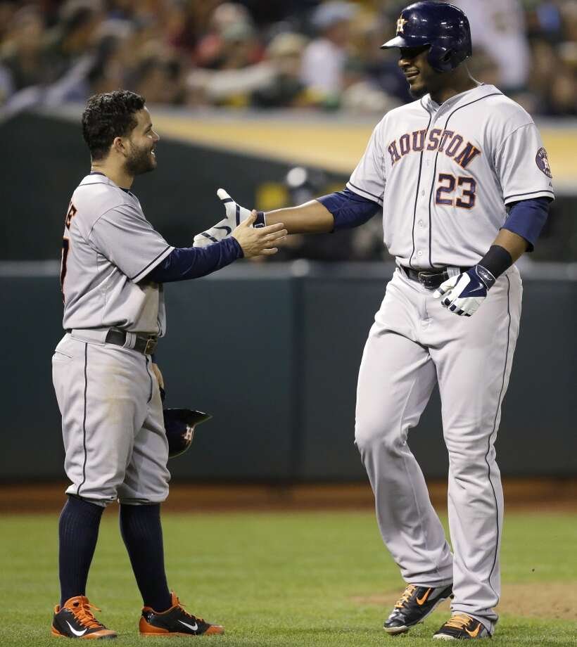 September 5: Astros 4, Athletics 3Chris Carter does it again, belting a go-ahead two-run homer to lift the Astros to a fifth straight win.  Record: 62-79. Photo: Ben Margot, Associated Press