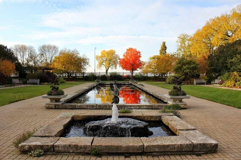 The Sunken Garden At Madison S Olbrich Botanical Gardens