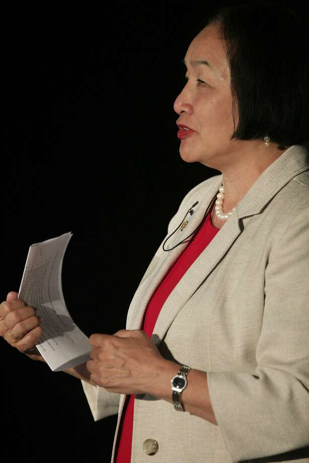 Mayor Jean Quan breaks ties with the police trade show. Photo: Lea Suzuki, The Chronicle