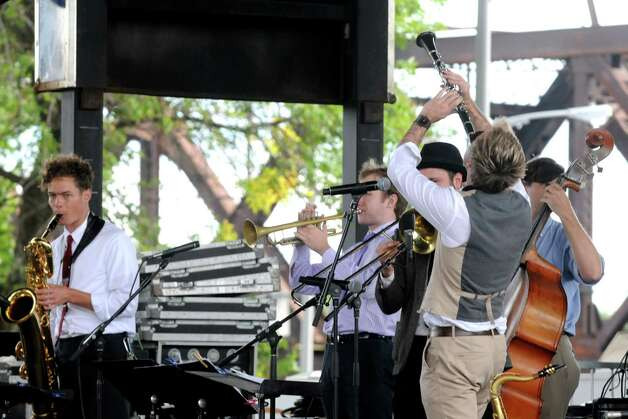 The Professor Cunningham and His Old School band plays New Orleans jazz during the Albany Riverfront Jazz Festival at the Corning Preserve on Saturday Sept. 6, 2014 in Albany, N.Y. (Michael P. Farrell/Times Union) Photo: Michael P. Farrell / 00028494A