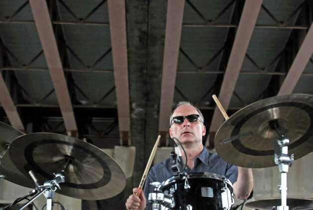 Drummer Pete Sweeney plays with Michael Benedict Jazz Vibes during the Albany Riverfront Jazz Festival at the Corning Preserve on Saturday Sept. 6, 2014 in Albany, N.Y. (Michael P. Farrell/Times Union) Photo: Michael P. Farrell / 00028494A