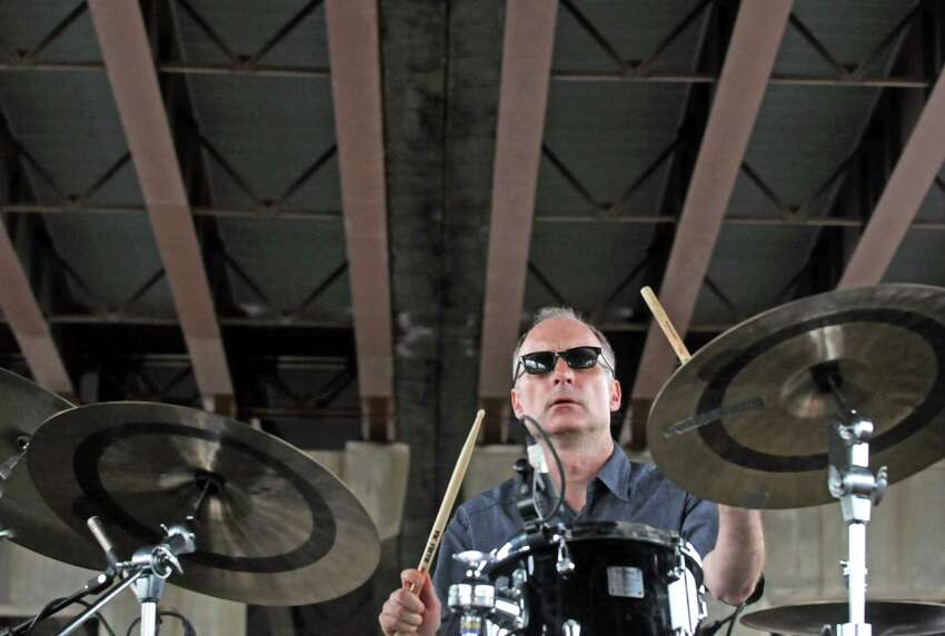 Drummer Pete Sweeney of Michael Benedict Jazz Vibes, which will play June 8 at Kick Off to Summer in Schenectady's Central Park. (Michael P. Farrell/Times Union)