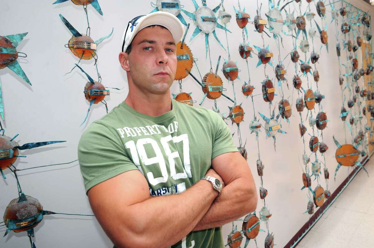 Emmanuel Donato, a recovering heroin addict and dealer, following his group therapy session at Equinox on Thursday July 31, 2014 in Albany, N.Y. (Michael P. Farrell/Times Union)