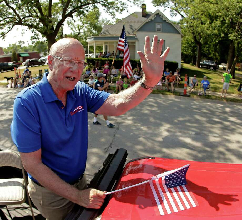 "No. 10 (tie): ""Every time I get an opponent — I mean, every time I get a chance — I'm home.""— Kansas Sen. Pat Roberts responding to questioning about whether he actually resides in Kansas, during a KCMO radio interview on July 3.Roberts is shown on Aug. 2, 2014, campaigning during a parade in Gardner, Kan. Photo: Charlie Riedel, Associated Press / AP"