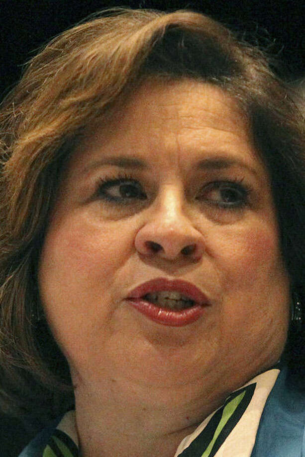 """""""You know the power of a good school system,"""" Sen. Leticia Van de Putte said at the conference for Realtors. / ©San Antonio Express-News"""