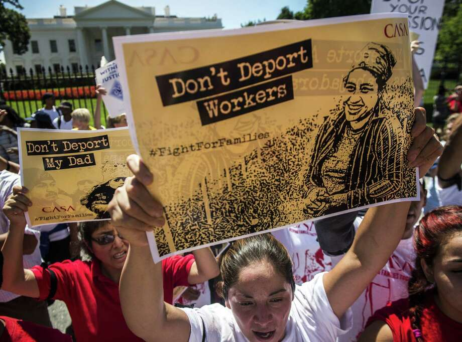Immigration reform advocates, including these demonstrators outside the White House, face executive inaction based in part on the effect change might have on the looming November elections. Photo: Gabriella Demczuk / New York Times / NYTNS