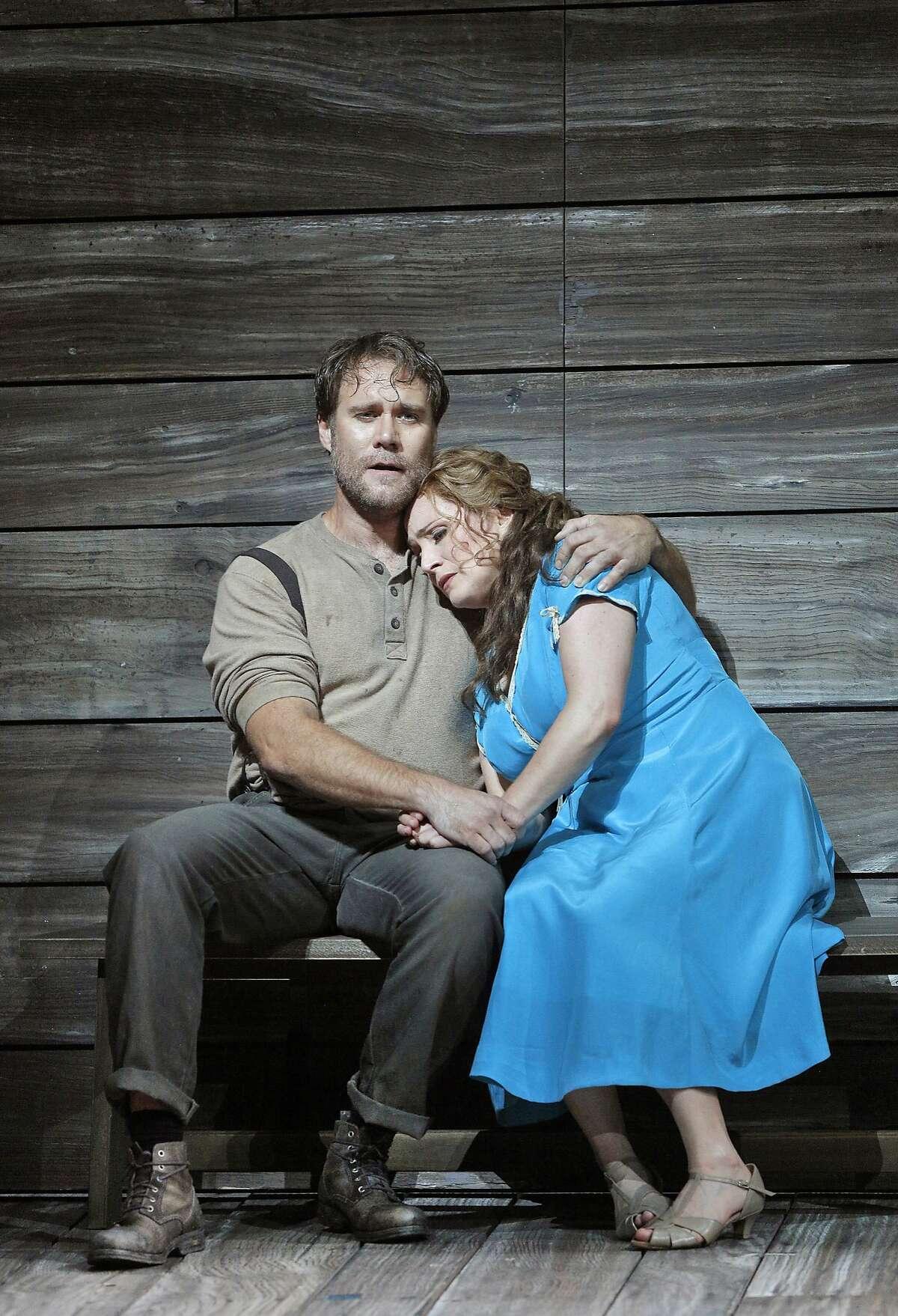 Brandon Jovanovich (Sam Polk) and Patricia Racette (Susannah Polk).