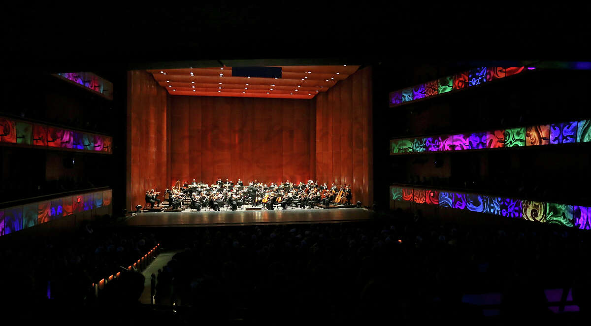 The San Antonio Symphony performs in the H-E-B Performance Hall during the grand opening of the Tobin Center for the Performing Arts Thursday Sept. 4, 2014.