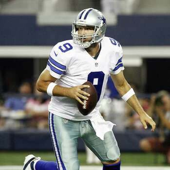 Dallas Cowboys quarterback Tony Romo (9) during preseason action against the Baltimore Ravens in preseason action on Saturday, Aug. 16, 2014, at AT&T Stadium in Arlington, Texas. (Ray Carlin/Fort Worth Star-Telegram/MCT) Photo: Ray Carlin, McClatchy-Tribune News Service / Fort Worth Star-Telegram