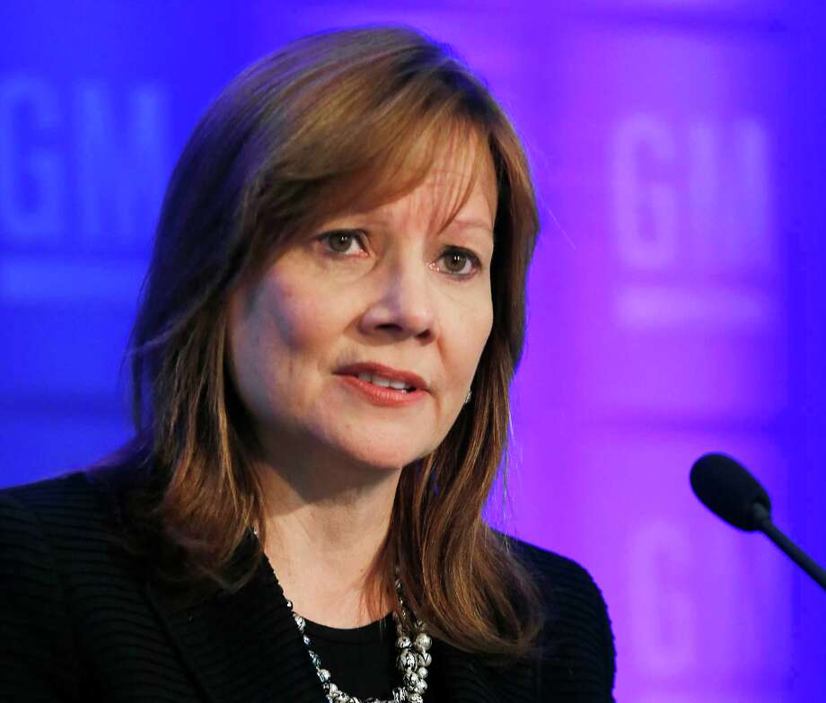 FILE - In this June 10, 2014 file photo General Motors CEO Mary Barra speaks to shareholders in Detroit. Barra is the keynote speaker Sunday, Sept. 7, 2014 at an intelligent transportation conference in Detroit. GM and other automakerswill announcenew devices that will make roads safer. The devices are steps toward self-driving cars in the future. (AP Photo/Paul Sancya, File) Photo: Paul Sancya, STF / AP