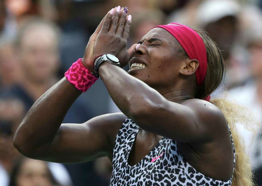 Serena Williams' emotions flow after she won her sixth U.S. Open singles title. Photo: Mike Groll, STF / AP