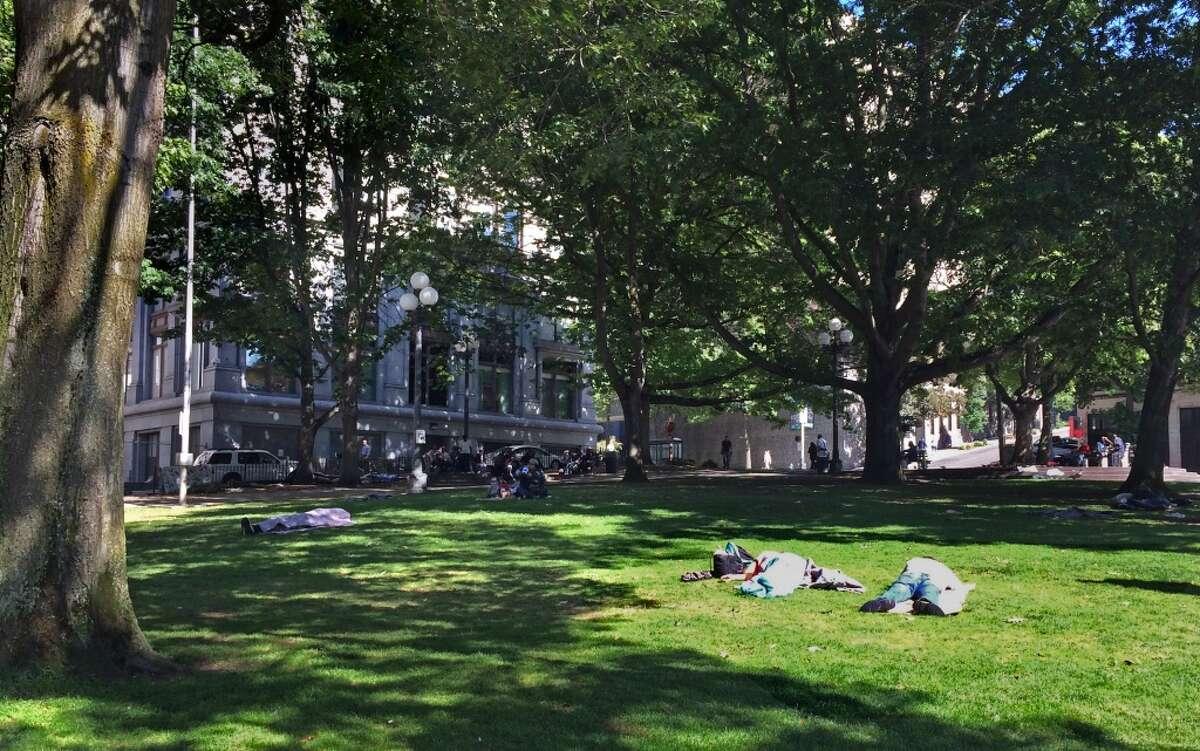 City Hall Park near the courthouse.