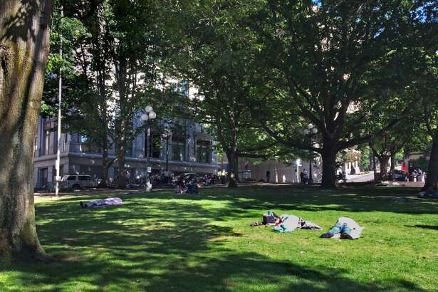 City Hall Park: This park next to the King County Courthouse has big, shady trees; a gentle, grassy slope; and a high concentration of people down on their luck. In a city filled with tourists and tech workers, it's a reminder that Seattle has a long way to go in becoming a first-class city for everyone.